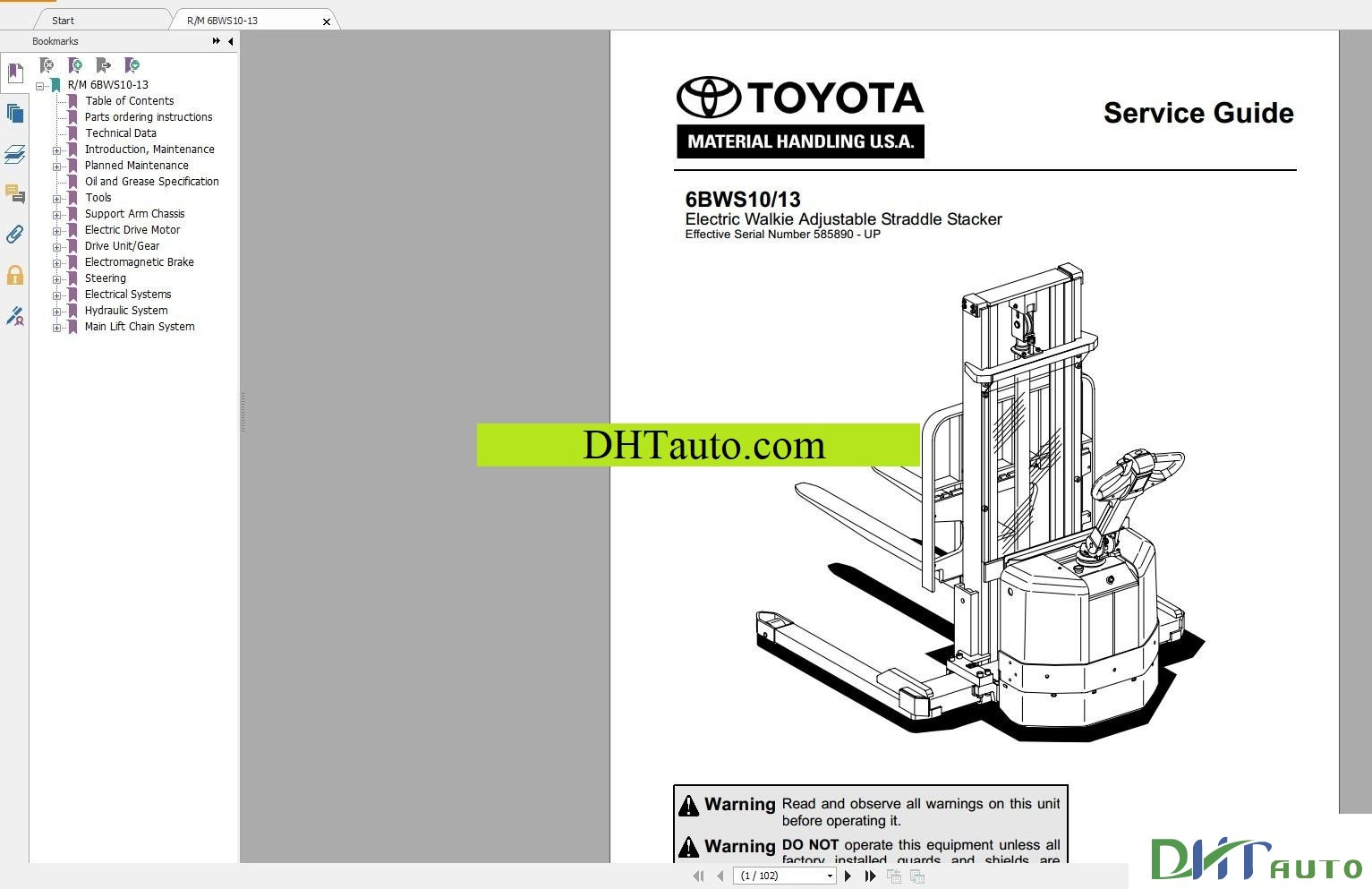 Toyota Forklift Trucks Full Set Manual Automotive Library Wiring Diagram 7fgu35 Service 8 Series Repair 8fbchu Cu346 Vol1