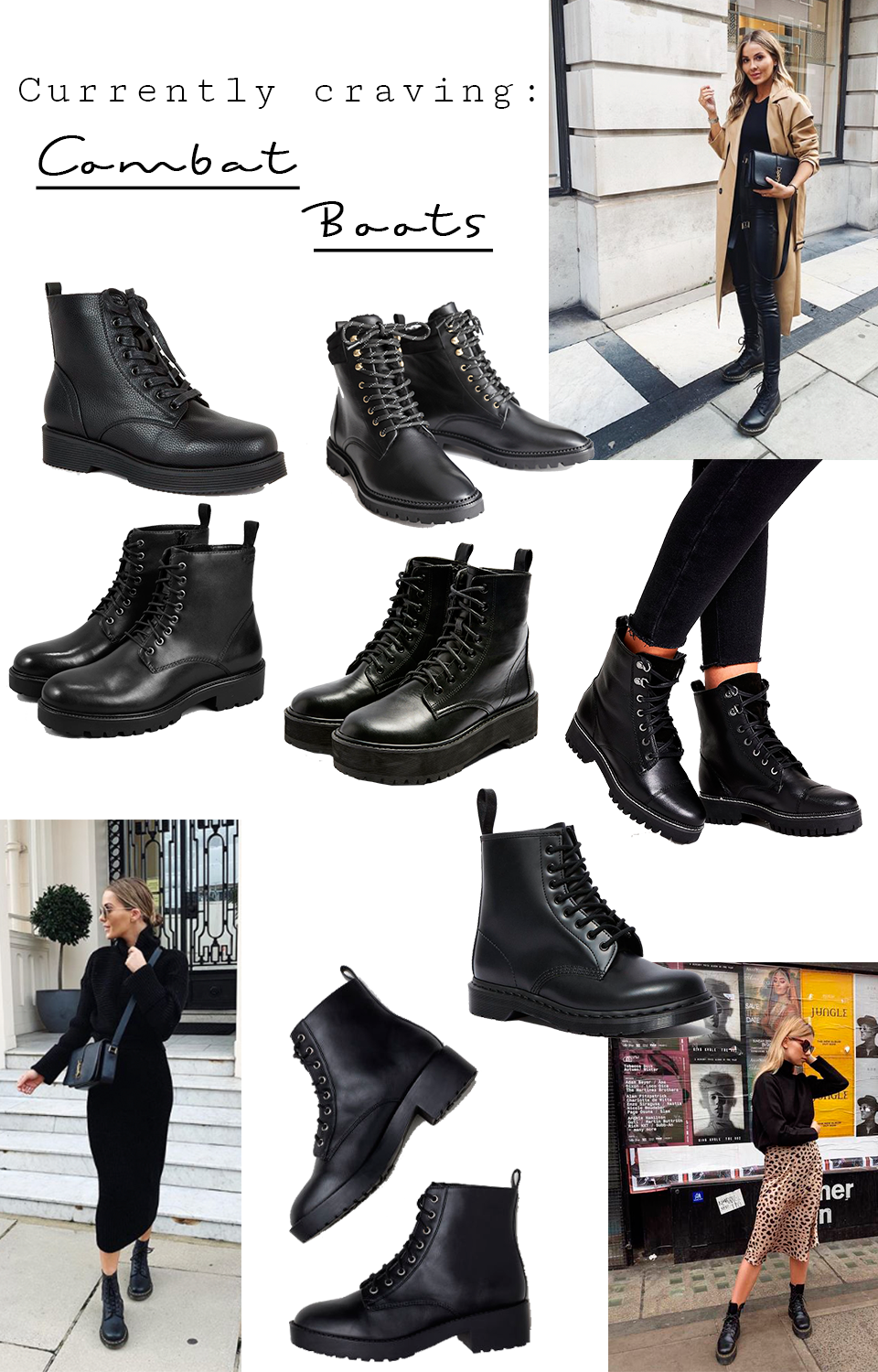 Lace up combat boots for autumn/winter 2019 - Nyörelliset mustat maiharit, syksy/talvi 2019