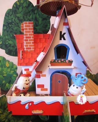 Картонный домик на дереве Киндер Сюрприз