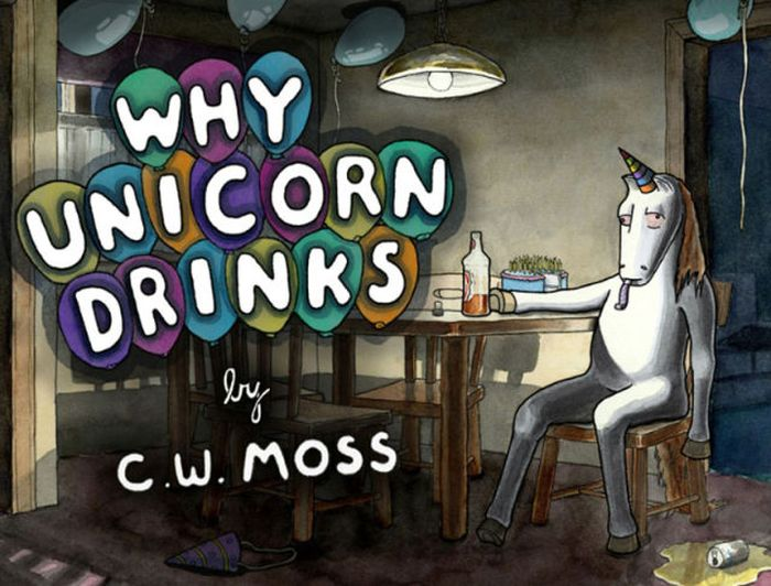 Adult Cartoon Why Unicorn Drinks (12 Pics)
