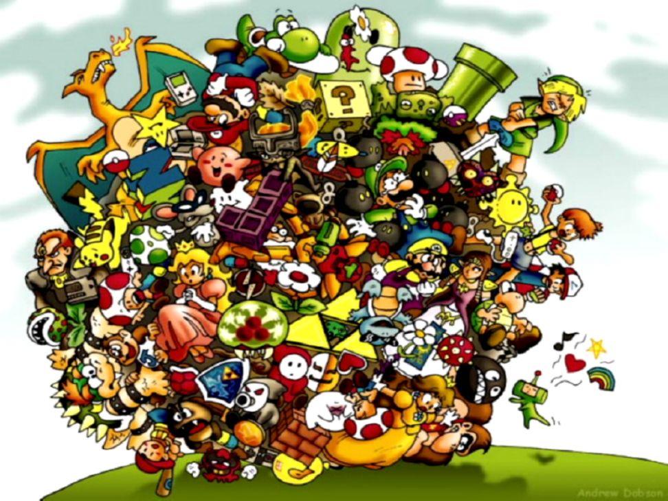 Nintendo Characters Wallpaper Goomba Stomp