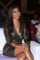 Pooja Hegde looks glamarous in deep neck sleevless short tight golden gown at Duvvada Jagannadham thank you meet function 114.JPG