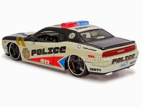 Diecast Miniatur Mobil Dodge Challanger Police Mainan