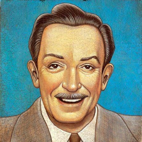 Walt Disney - Grandes personalidades pintada por Marc Burckhardt