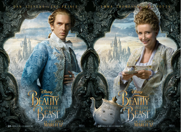 "Dan Stevens and Emma Thompson in ""Beauty and the Beast"""