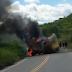 Bandidos armados explodem carro-forte na PB-325 próximo a Lagoa-PB