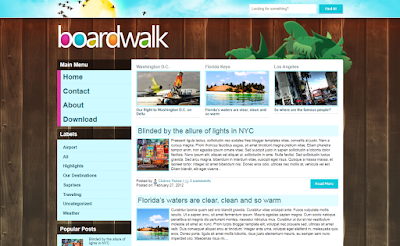 Boardwalk Blogger Template