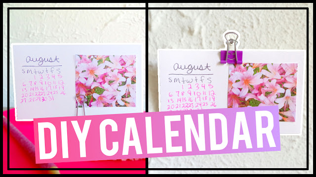Simple DIY Index Card Calendar