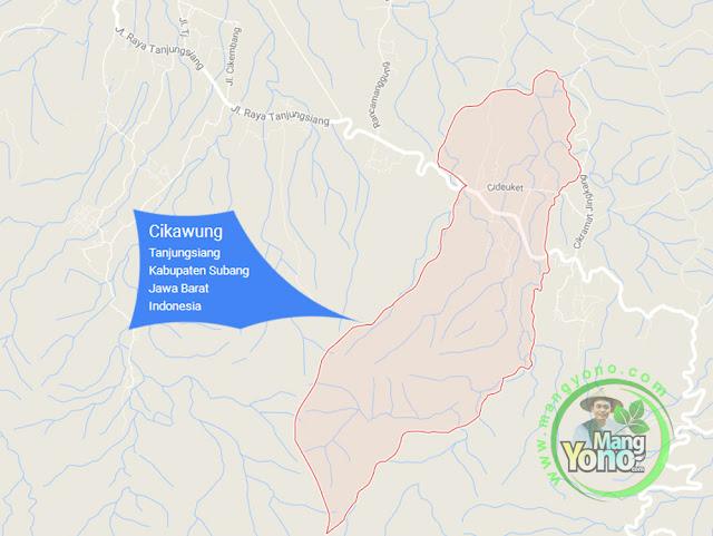 PETA : Desa Cikawung, Kecamatan Tanjungsiang