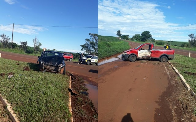 Acidente deixa cinco pessoas feridas em Campina da Lagoa