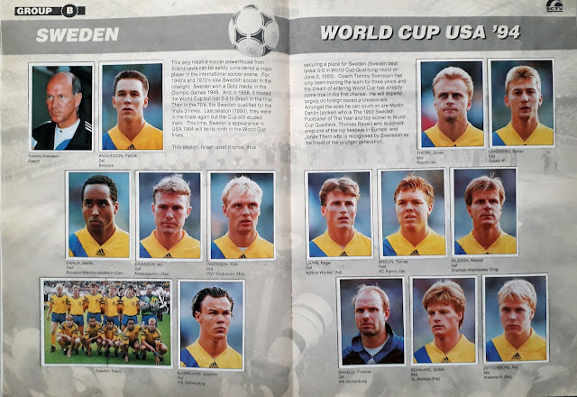 WORLD CUP USA '94 STICKER ALBUM COLLECTION GROUP B SWEDEN