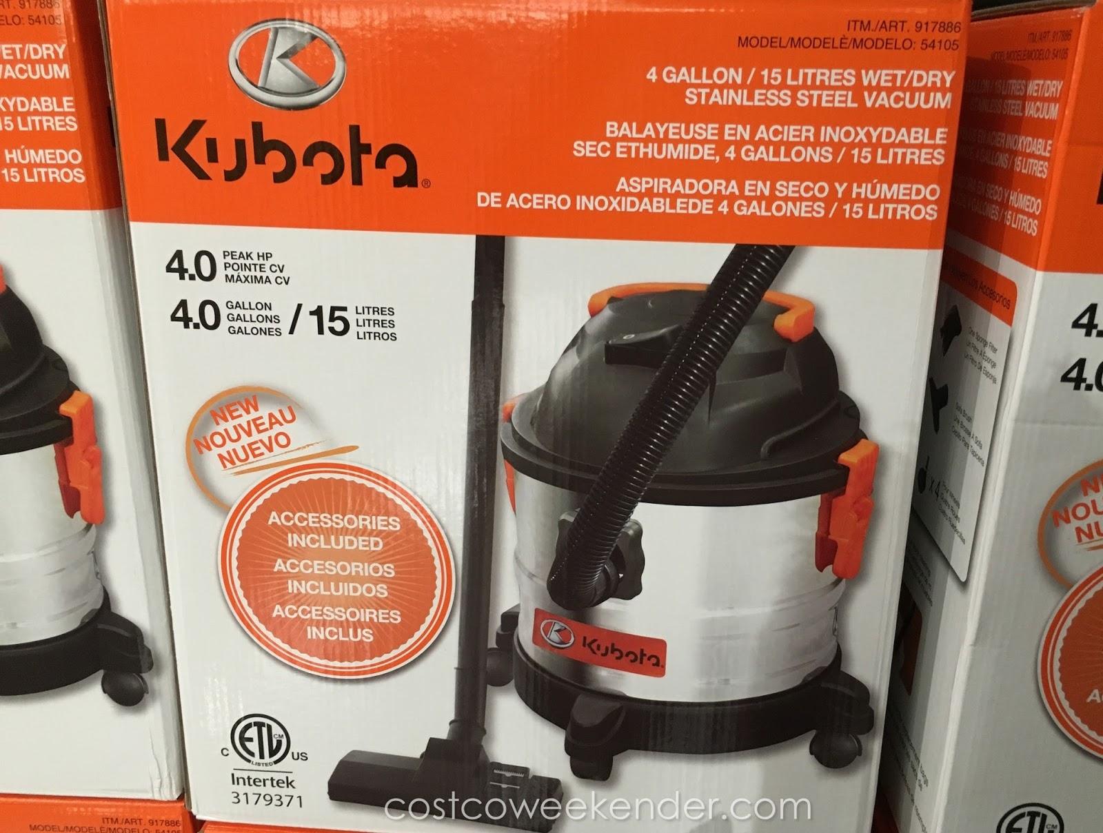 Kuboto Wet Dry Stainless Steel Vacuum Model 54105