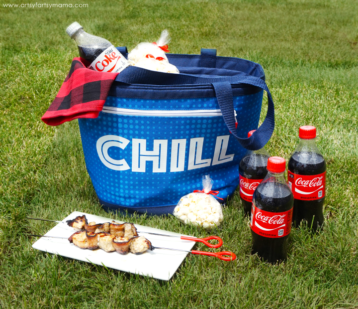 Summer Share A Coke Gift Idea with Chicken Bacon Kebabs Recipe #IceColdSummerMoments