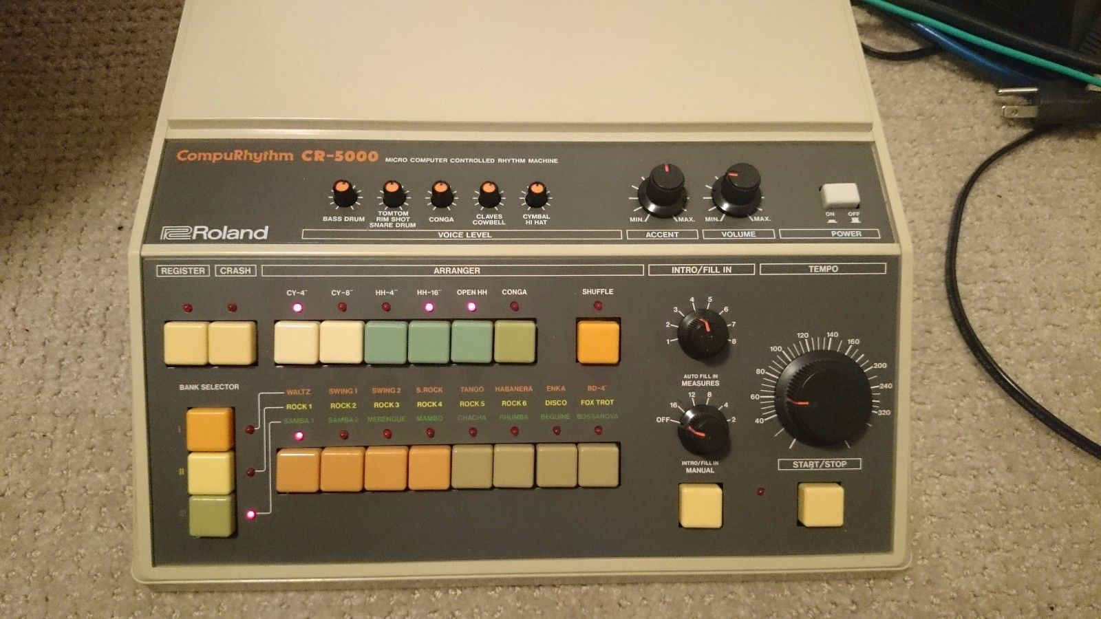 matrixsynth roland cr 5000 analog drum machine synthesizer with trigger out. Black Bedroom Furniture Sets. Home Design Ideas