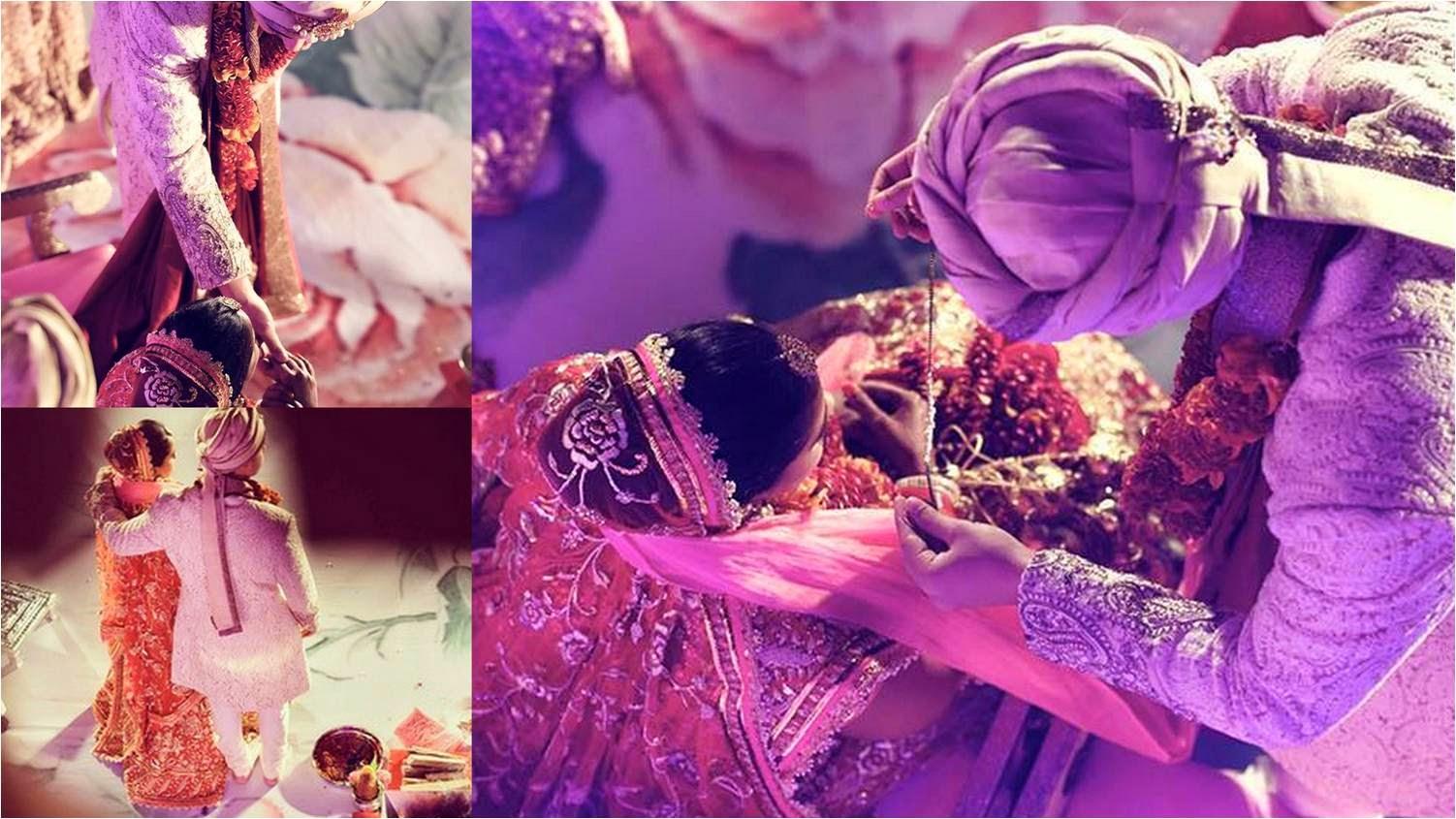 Arpita wearing mangalsutra from Aayush's hands