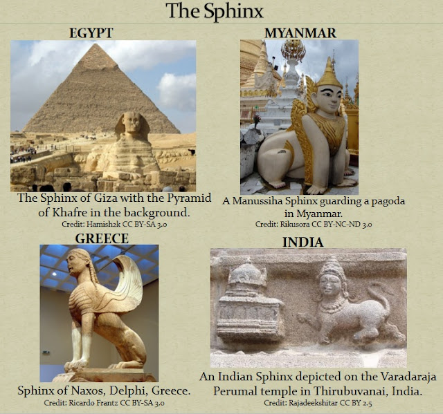 The Sphinx in the sacred architecture of many ancient cultures.