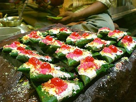 Indian Paans to chew at the very first place - A Betel leaf preparation