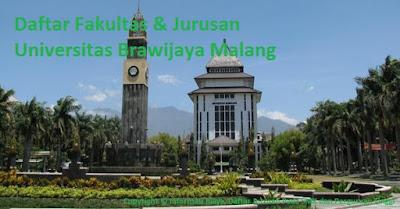Daftar Lengkap Fakultas Jurusan Universitas Brawijaya Malang Terbaru, Daftar jurusan program sturdi universitas brawijaya unibra malang terbaru terlengkap terkini dengan g=fakultasnya