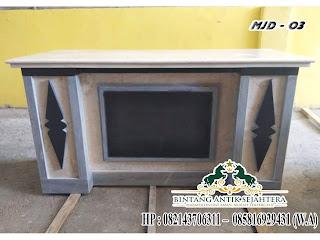 meja kerja marmer model MJD-O3