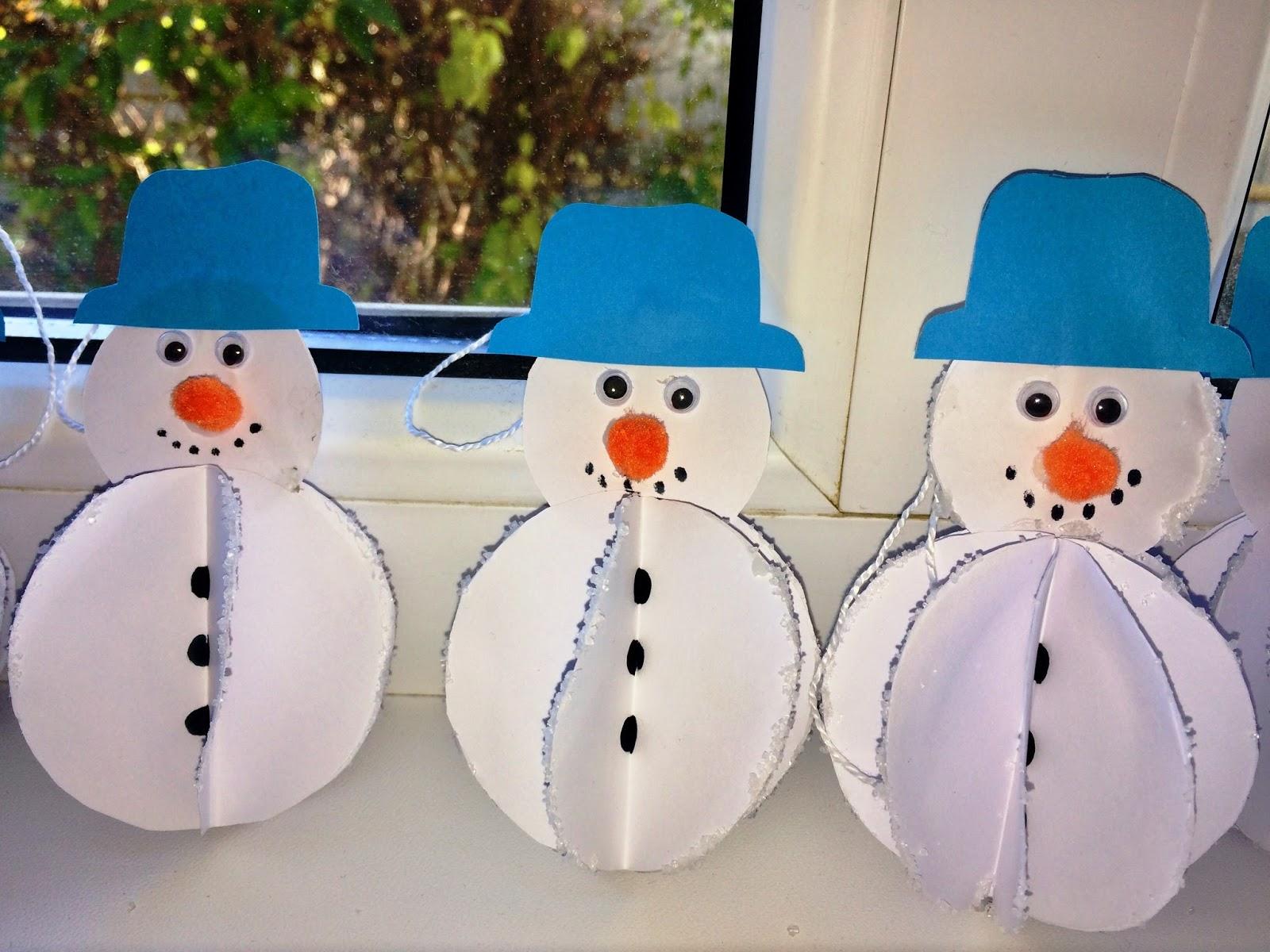Omul de zăpadă- ornament pentru Crăciun