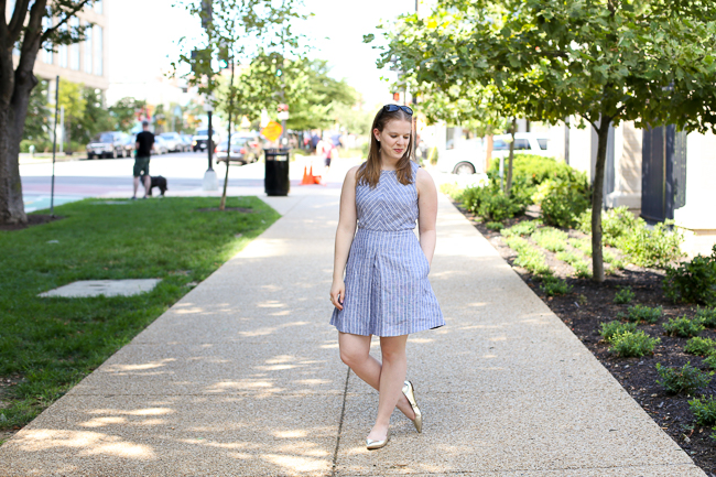 The Gold Flats | Something Good, Chambray Dress