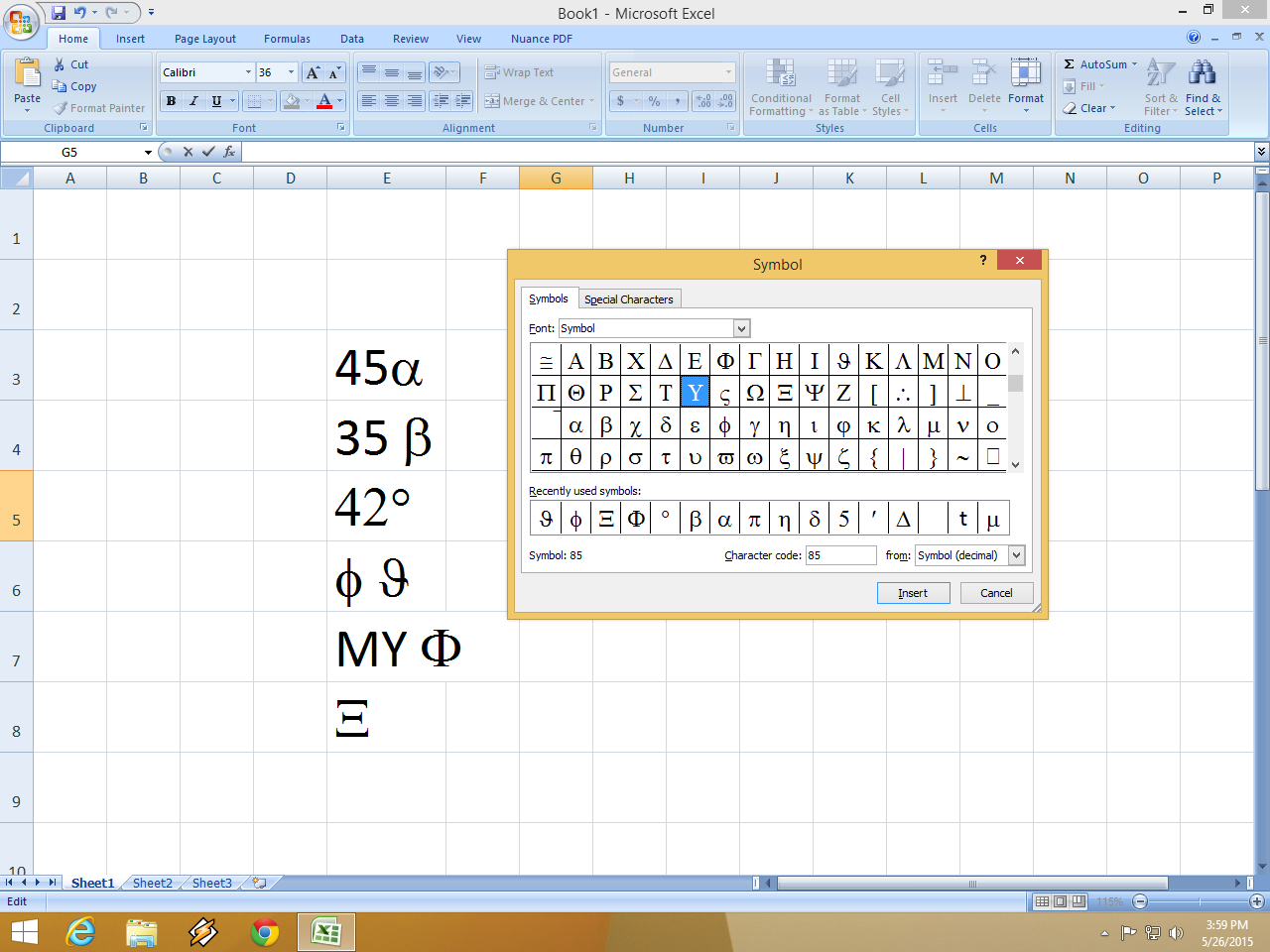 Learn New Things Shortcut Key For Insert Symbol In Ms Excel