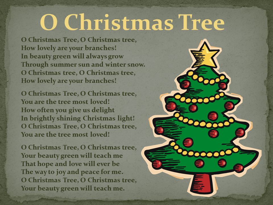 Collection Oh Christmas Tree Lyrics In French Pictures - Home ...