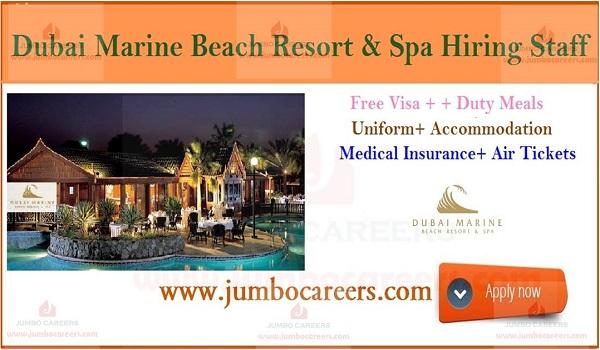 5 Star Dubai Marine Beach Resort and Spa Hiring Staff with Free Visa