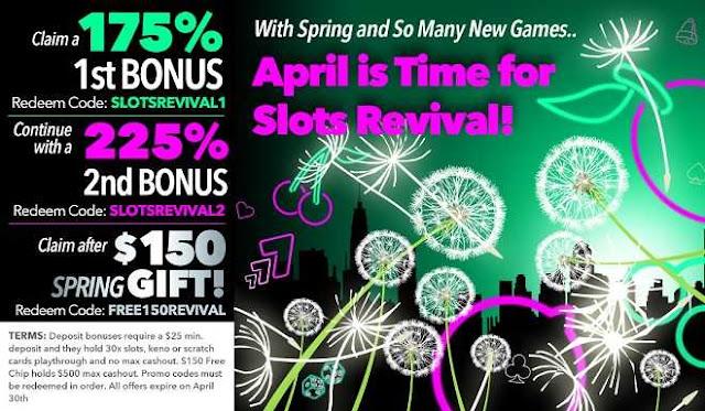 Uptown Aces casino spring bonus pack