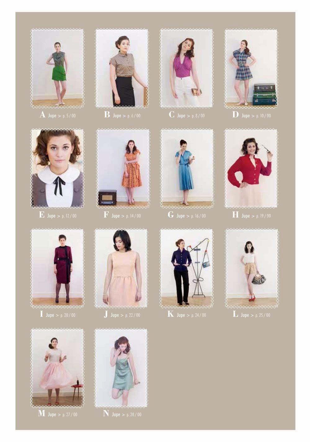 livre couture vintage patron modèles