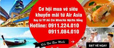mua vé siêu khuyến mãi từ Air Asia
