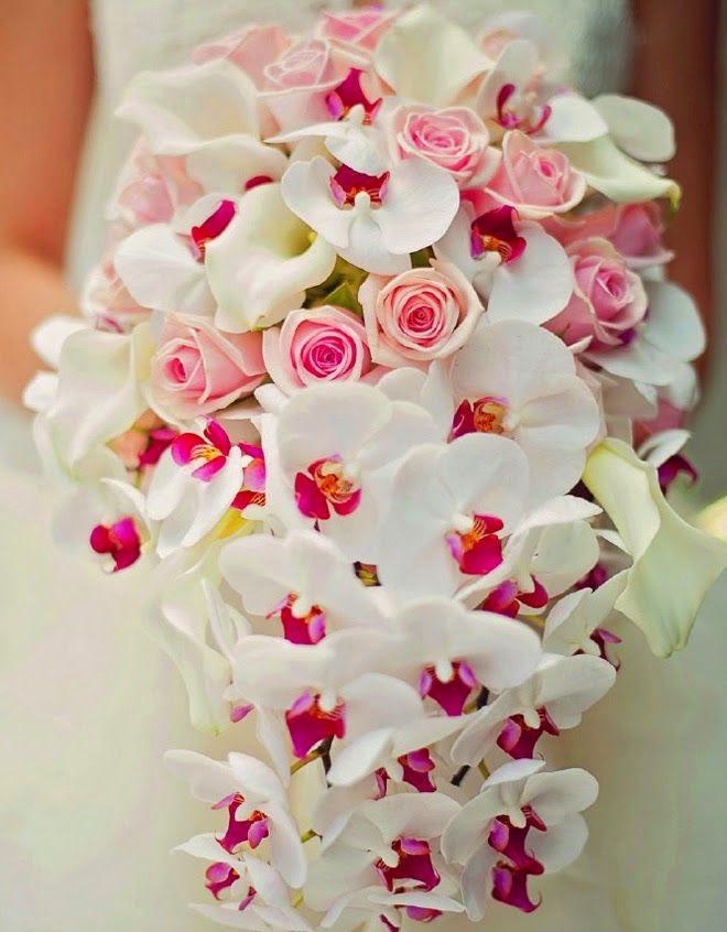 Lạ với hoa cưới cầm tay bằng lan hồ điệp