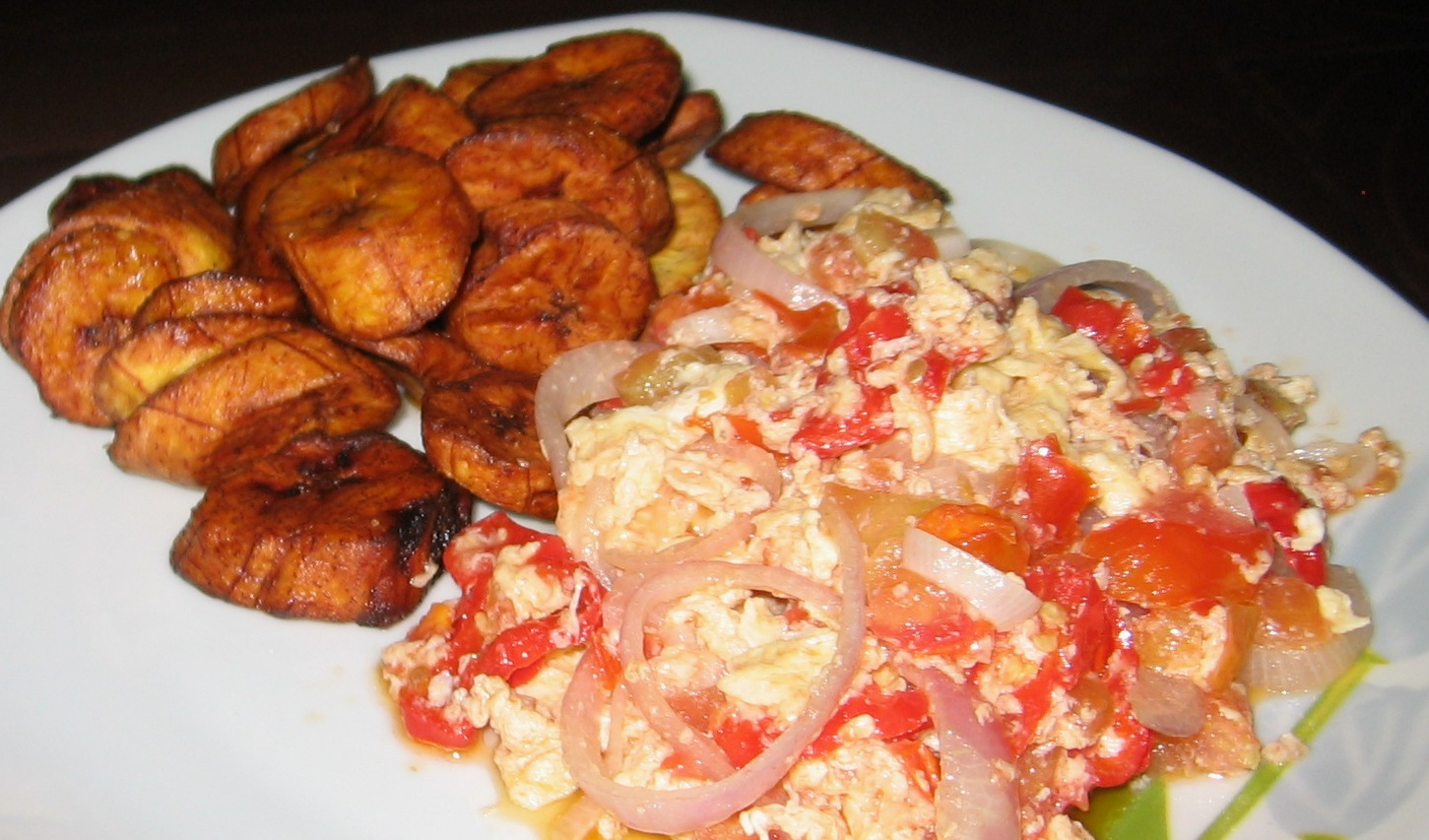 Image result for fried plantains and eggs