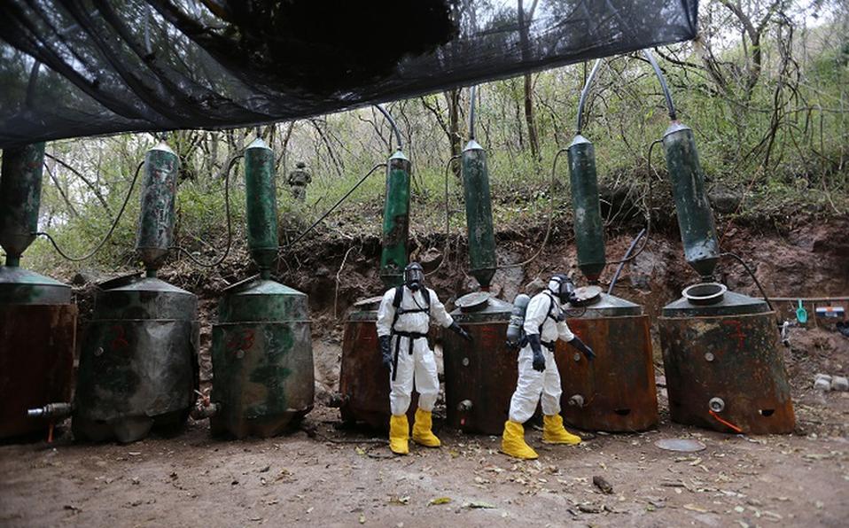 Se detectan 273 narcolaboratorios en el país en los últimos 3 años