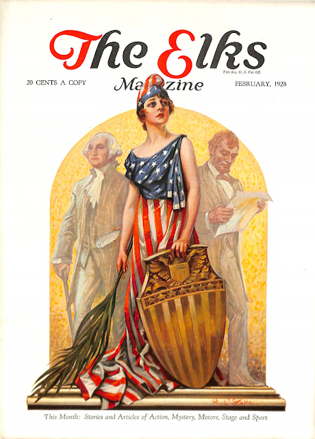 Cover by Paul Stahr for The Elks magazine 1928 February
