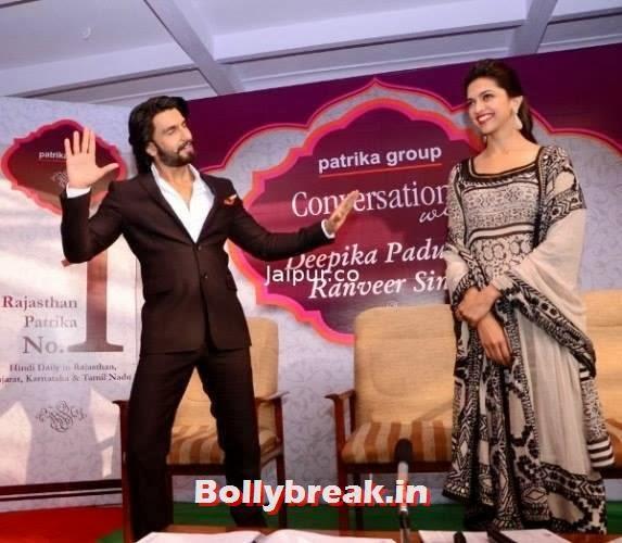 , Deepika Padukone & Ranveer promote Ram Leela in Jaipur