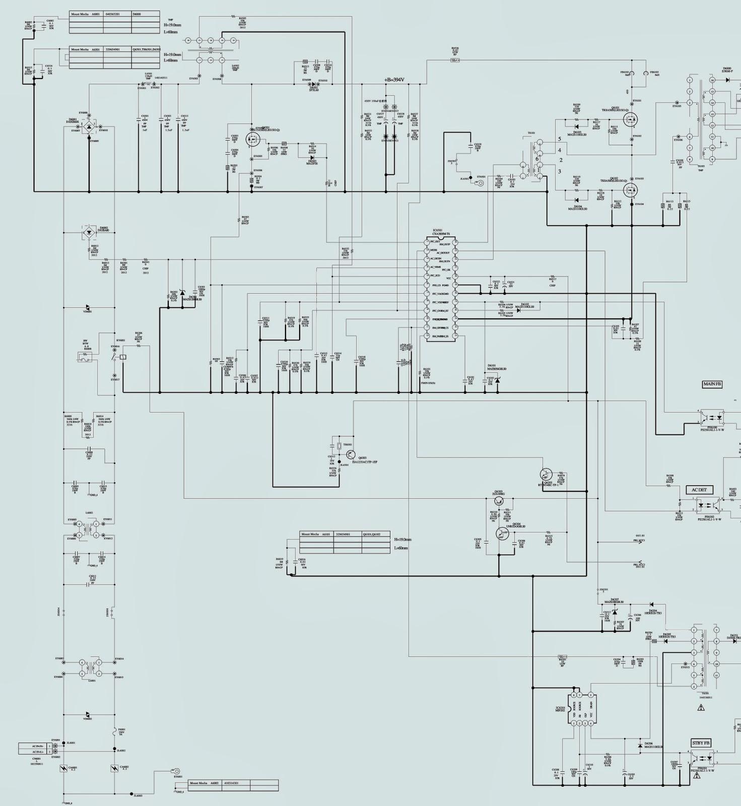 playstation 2 power supply schematic