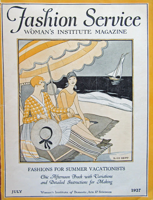 Fashion Service Magazine July 1927 two women on the beach