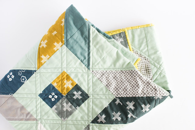 Winter Star | Shannon Fraser Designs for Pat Bravo Heartland Blog Tour | Art Gallery Fabrics | Modern Baby Quilt