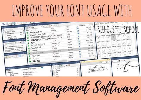 silhouette 101, silhouette america blog, font management, silhouette fonts, fonts for silhouette cameo