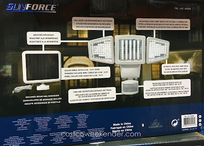 Costco 962690 - Deter would-be criminals with the SunForce 150 LED Triple Head Solar Motion Security Light