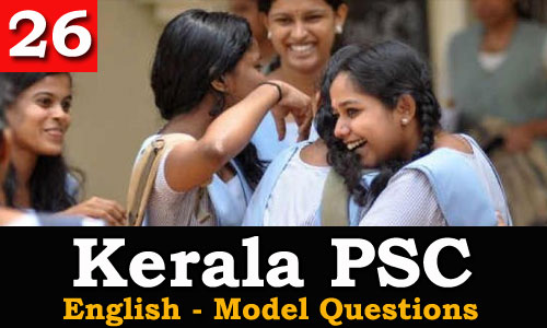 Kerala PSC - Model Questions English - 26