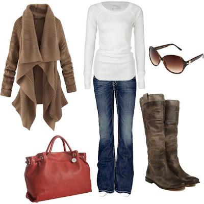 6161df0b4 Aquí te traigo varias imágenes de conjuntos u outfits para otoño e invierno.  Predominan las botas altas de cuero y los abrigos.