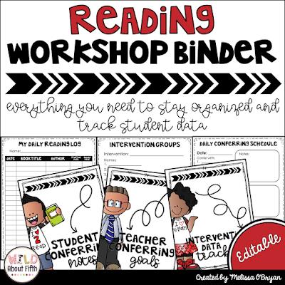 https://www.teacherspayteachers.com/Product/Reading-Workshop-Binder-Editable-779771