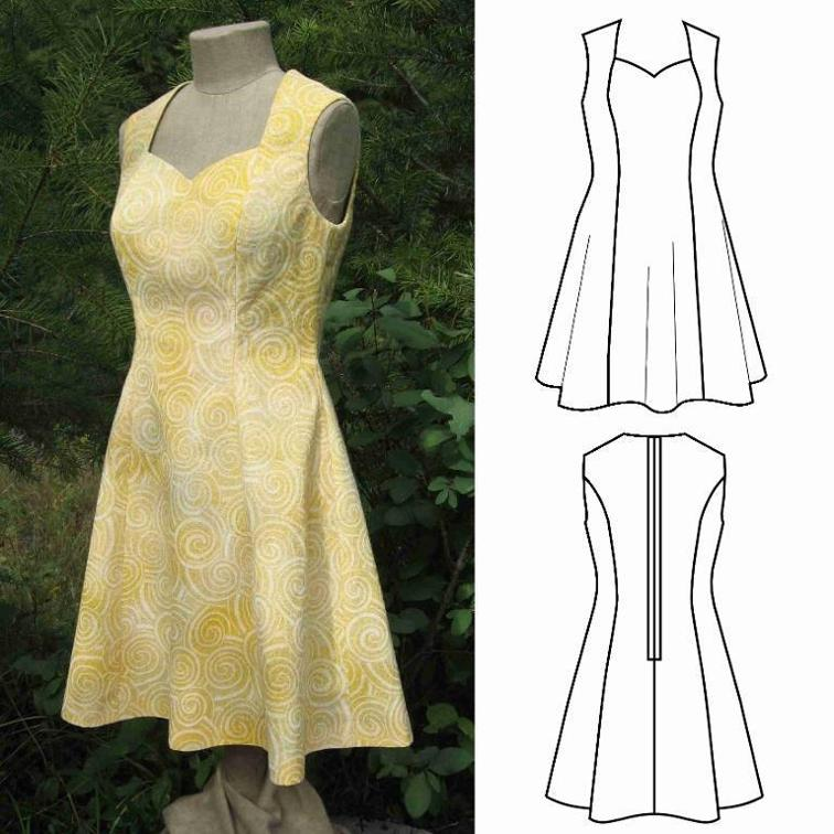 40 Gorgeous Womens Summer Dress Patterns You'll Love AppleGreen Gorgeous Free Dress Patterns For Women