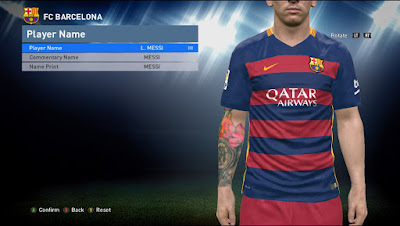 PES 2016 3DM Kerak Support Tatto Pack 400