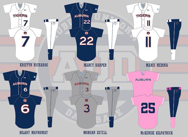 auburn softball uniform 2014