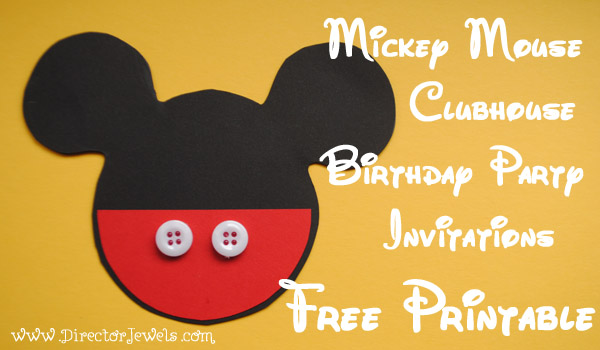 Director Jewels Mickey Mouse Clubhouse DIY Birthday Party - unique mickey mouse invitations