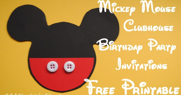 diy mickey mouse clubhouse invitations