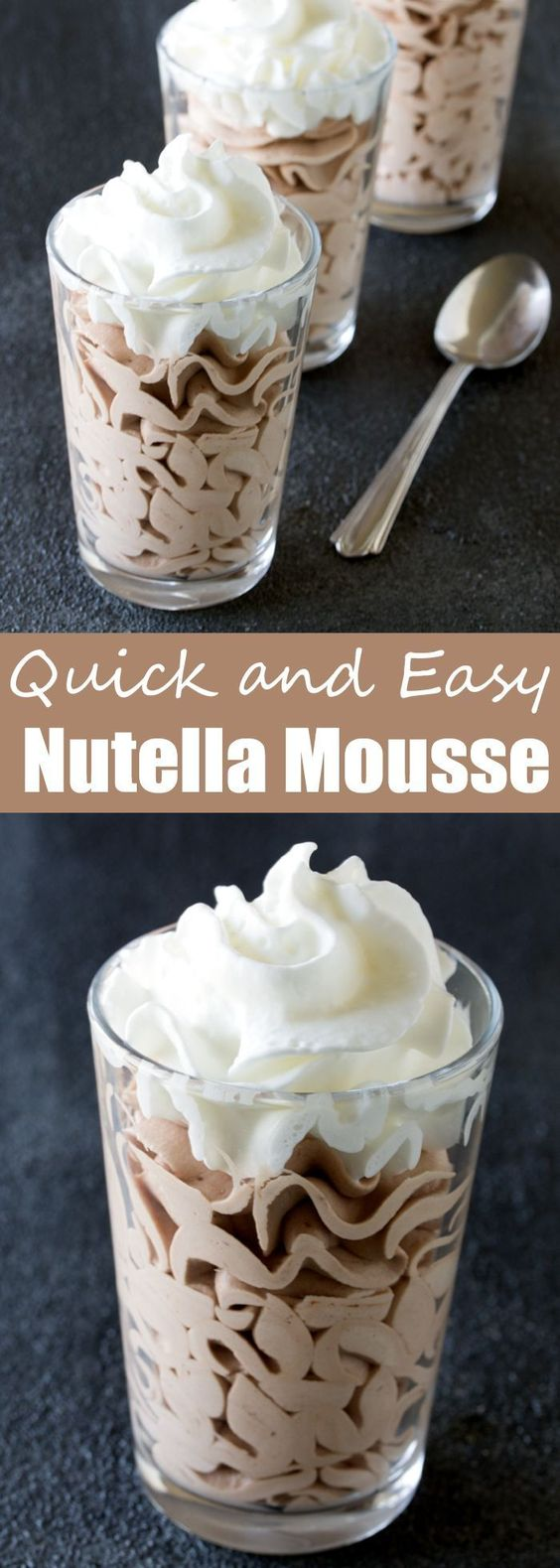 QUICK AND EASY NUTELLA MOUSSE #quickrecipes #easyrecipes #nutella #mousse #dessert #dessertrecipes